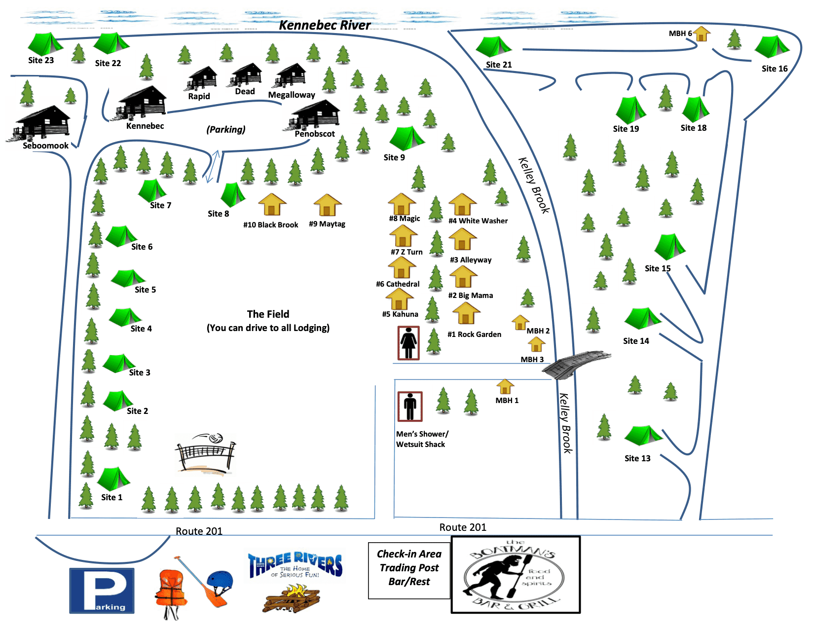 Kelly Brook Campground Map 2019